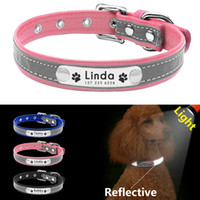 Reflective Dog Collar Personalized Pet Dog Collars Leather P...