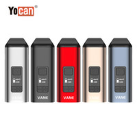 2021 Orijinal Yocan Vane Kiti Ana Kuru Herb Buharlaştırıcı OLED Ekran Seramik Odası 1100 mAh Kalem 5 Renkler DHL Ücretsiz