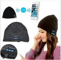 2019 Bluetooth Music Beanie Hat Wireless Smart Cap Casque Casque Haut-parleur Microphone Mains Libres Musique Chapeau Bonnet Tricoté Plus de couleurs