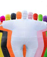 Halloween Inflável Sumo Roupas Engraçado Tema Fat Theme Trajes Andando Bonecas Branco Conjunto De Performance Roupa Muitas Cores