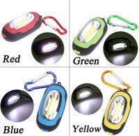 Портативный мини-брелок карманный фонарик 3 Режимы COB мини брелок цепь открытый светодиодные лампы фонарик Многоцветный Мини-фонарик с батареей
