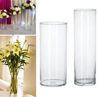 Plastik Temizle Yuvarlak Silindir Bitki Vazo Asılı Vazo Bitki Çiçek Düğün Parti Yatak Odası Oturma Odası Ofis Ev Dekorasyon Için