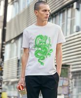 ZSIIBO 2020 Mensentwerfer T-Shirts Chinese Dragon Druck Baumwoll-T-Shirt der Straßenart Hip-Hop-stück für Männer und Frauen DYDHGMC198