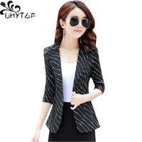 UHYTGF Small suit women' s summer tops coats Fashion str...