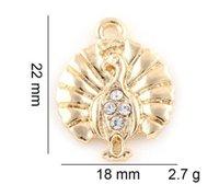 18x22mm (oro, plata del color) 20pcs / lot encanta el pavo real colgante Hang bricolaje ajuste Accesorio para flotar Locket Jewelrys Moda