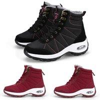 2020 kırmızı Sıcak Burgonya şarabı kış Desen4 kar Bej siyah beyaz kız bayan kardeş botları kadınlar Sneakers Boot açık yürüyüş ayakkabısı eğitici