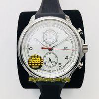 GB V3 Обновление версии Португанец Яхта Club Clronograph 393402 Cal.89360 Chronographic Автоматический белый циферблат мужские часы Sapphire Sports