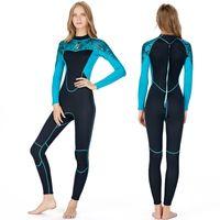 숙녀를위한 슈퍼 스트레치 잠수복은 블루 블랙 일치가 가능한 설계 수영 서핑 잠수복을 바느질 전체 소송의 flatlock를 2mm의
