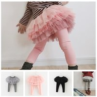 Mädchen Hose lässig Steigung falsche zwei Kinder Röcke koreanische Baumwolle Pantaloons elastische Gamaschen Mädchen-Kuchen-Rock Hosen 5 Netzfarbe