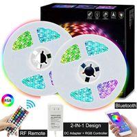 Groothandel 5 M 10 M RGB LED Strip Light 5050 SMD 30LEDS / M LED Streep String Flexibele LIBBONT LED-tape