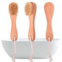 Eber-Borste-Gesichtsbürsten Rasierpinsel Holzgriff Gesichtsreinigungsbürste Hautpflege-Reinigungs-Tools WC SuppliesT2I5758