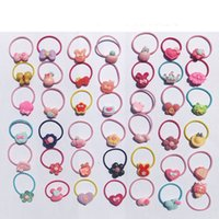 Candy Color Elastico Hairbands Flower Bow Cartoon Hair Ties Corde Baby Toddler Girls Accessori per capelli Copricapo