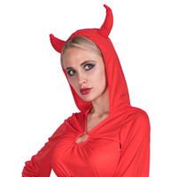 أزياء المصمم لهب سيدة الشياطين تأثيري الملابس هالوين ويتوهم حزب اللباس مع الأبواق موضوع زي