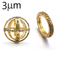 3UMeter Astronomical Ball Ring Complesso Rotating Clamshell Astronomical Ring Universe Student Constellation Jewelry