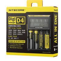 D4 caricabatterie universale per 18650 16340 26650 14500 22650 18490 18350 Batteria Nitecore Display LCD Caricabatterie Nitecore D4