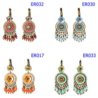 33 Styles Colorful Dangle Earrings Jewelry Wedding Party Eve...