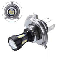 1PC 오토바이 안개 조명 LED 헤드 라이트 전구 12V 500lumen H4 3030 18SMD 업그레이드 램프 전구