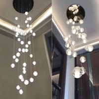 LED Kristallglaskugel Anhänger Meteor Regen Deckenleuchte Meteorische Dusche Treppenleiste Droplight Kronleuchter Beleuchtung AC110-240V LED-Leuchten