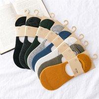 8 colores de los hombres calcetines invisibles manera al por mayor del color sólido del calcetín zapatillas Giood Calidad Lote 20 pares