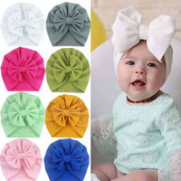Cute Baby Girls Bow Turban Hat Toddler Kids Head Wrap Hijab ...