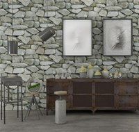 Nueva 10MX 53cm impermeable 3D de la vendimia efecto de piedra papel pintado rollo moderno rústico realista Falsa piedra textura de pared de vinilo de PVC Papel Decoración