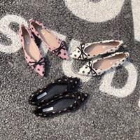 حار Sale-2019 تتجاوز الاحتفاظ الحب الحقيقي ~ ريشة موجة نقطة شارب القوس شقة مزاجه الحلو أسفل الأحذية الناعمة حذاء واحد