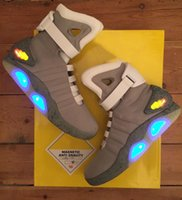 Automatic Laces Air Mag Back To The Future brilham no escuro Sneakers Grey Marty Mcfly '; Shoes S LED Lighting Marty McFlys Mags Preto Re