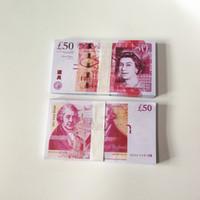 British United Kindom Banknoten 50 Pfund Hinweis für Sammlung oder Business-Geschenke Fake Geld-Prop-Geldpapier GBP Preise Bills Banknoten 06