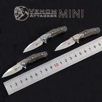 Kevin veleno cuscinetto piccolo attaccante coltello pieghevole M390 titanio acciaio zirconio lega utensile lama piccola chiave pieghevole coltello