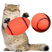 Popular Engraçado Cão Laranja Brinquedo Squeaky Para Pet Dog Chew Toy Pequeno Borracha Squeaky Rugby Ball Playing Game