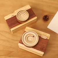 Wooden Music Box Camera Model Music Box Children' s Birt...