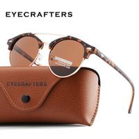 الجملة-أزياء رجالي نادي جولة النظارات الشمسية المستقطبة للمرأة العلامة التجارية مصمم بولارويد مزدوجة جسر النظارات oculos دي سول