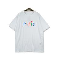 Los hombres del estilista camiseta nueva llegada Paris Hombres Mujeres Carta de alta calidad de impresión de manga corta casuales de moda para hombre camisetas
