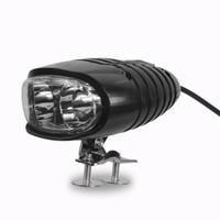 2W Étanche ebike Lumières 36V 48V 60V Vélo Électrique Avant Phare Moto Corne De Lampe pour Vélo Avec Interrupteur