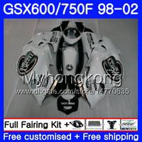 Тело для Suzuki GSXF 750 600 GSXF750 1998 1999 2000 2001 2002 292HM.AA GSX 600F 750F Katana Lucky Black White GSXF600 98 99 00 01 02 обтекатель