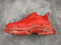 أزواج الثلاثي S مسح أحمر أصفر قوس قزح أسفل ارتفاع مصمم أحذية مطاطية أعلى منخفض حذاء رياضة الثلاثي S أزواج الرجال النساء بابا منصة أحذية