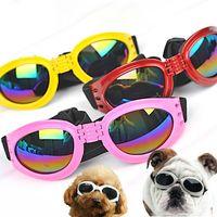 نظارات الكلب النظارات الشمسية الكلاب العين ارتداء الحماية من النظارات الشمسية للماء للحيوانات الأليفة للكلاب مع حزام قابل للتعديل للكلب المتوسط أو كبير