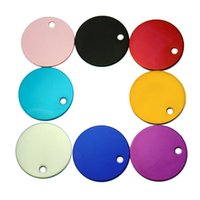 Round Shape Aluminum Pet ID Tag 2 Sided Custom Engraved Dog ...