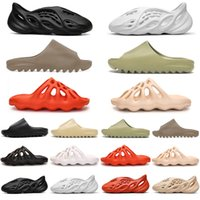 adidas yeezy kanye west slides foam runner 450 homens mulheres chinelos sapatos terra marrom resina chinelo sandálias mens womens formadores tênis