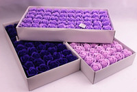 New Year Soap Flower 6cm Artificial Roses High Grade 50PCS B...