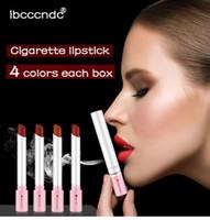 4 الألوان المخملية ماتي طويل الأمد السجائر ماء سطح أحمر الشفاه الضباب مثير عاري ملمع الشفاه Maquillaje باتوم 4PCS / مجموعة