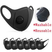 Unisex Yeniden kullanılabilir Nefes Vana Maskeler PM2.5 Ağız Koruma Yıkanabilir Respiratörü LJJA3951 Maske sünger Anti-Dust Karşıtı Kirliliği Maske