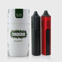 1 pz Conquistatore Erba Secca Vaporizzatore con camera di riscaldamento in ceramica Controllo Temp schermo OLED cera a base di erbe Penna Vape Kit Hebe Titan Pro Elite