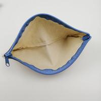 пустой холст молния пеналы чехлы хлопка косметические сумки косметички мобильный телефон клатч