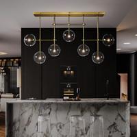 Современное стекло пузыря люстра освещение для гостиной, спальни, кухни прозрачный стеклянный шарик висит светильник 90-265V