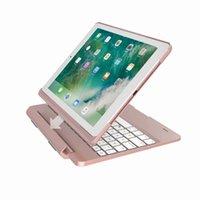7 Renkler LED Aydınlatmalı Durumda Ayrılabilir Manyetik Yuvası Bluetooth Klavye Kapak Apple iPad 9.7 2017 2018 Hava 2 5 6 Pro 9.7inch Akıllı Kabuk