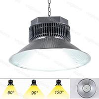 High Bay SMD3030 100W 150W 200W 6000K 80Ra AC85-265V LED Lampada di inondazione 120 ° 90 ° 60 ° Copertura Lampada da mineraria in alluminio DHL DHL
