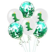 INS Joyeux Anniversaire Ballon Décoration Polka Dots Paillette Dinosaure Conception Latex Ballon Festival Ballon De Fête