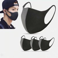 24H SHIPPING Mouth Face Mask Black Cotton Blend Anti Dust an...