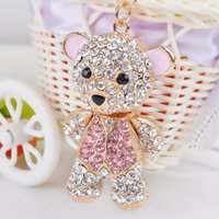 2019 Fashion Animal Design Keychains Sparkling Full Rhinesto...